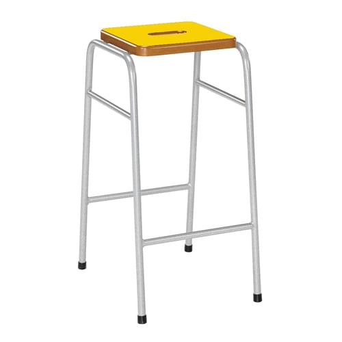 Metalliform 25 Series Traditional Classroom Stacking Stool - 620mm High - Yellow