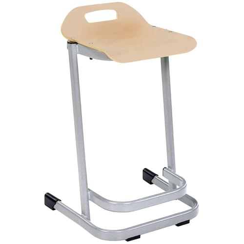Metalliform 35 Series Advanced Classroom Stacking Stool - 670mm High - Light Maple Ply