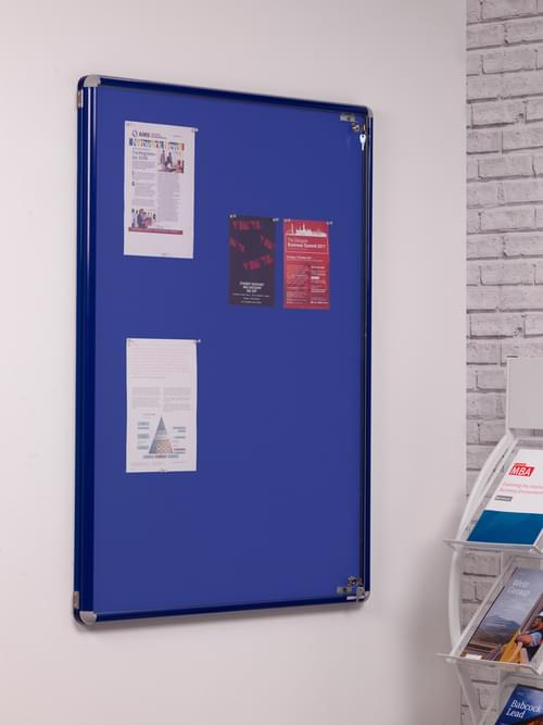 Spaceright SmartShield Flame Retardant Tamperproof  Shatterproof Notice board - 900 x 1200mm - Blue/Blue