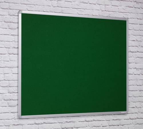 Spaceright Flame Retardant Aluminium Framed Notice board - 1800 x 1200mm - GREEN