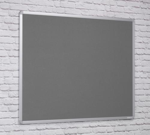 Spaceright Flame Retardant Aluminium Framed Notice board - 600 x 900mm - GREY