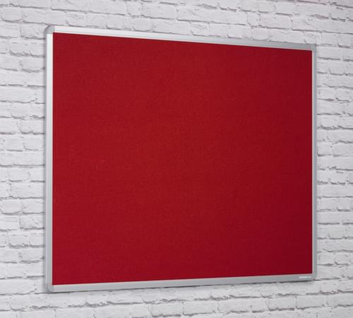 Spaceright Flame Retardant Aluminium Framed Notice board - 1800 x 1200mm - RED