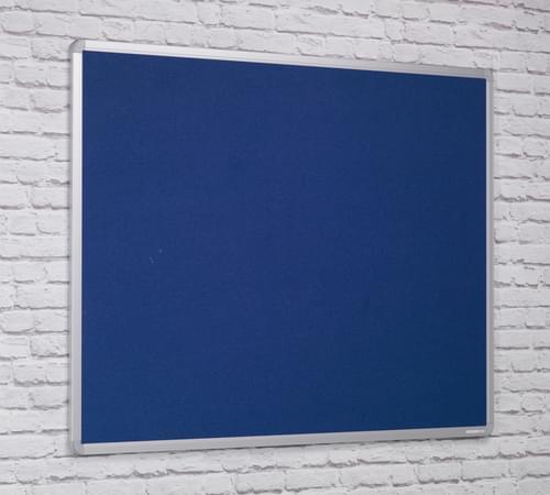 Spaceright Flame Retardant Aluminium Framed Notice board - 1200 x 900mm - BLUE