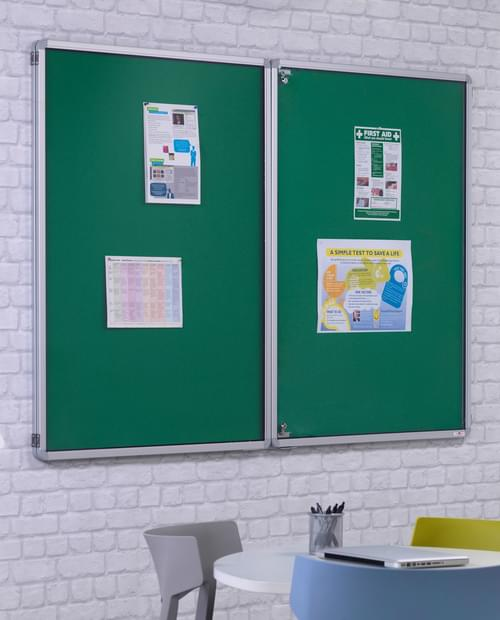 Spaceright FlameShield Tamperproof Noticeboard 1800 x 1200mm - GREEN