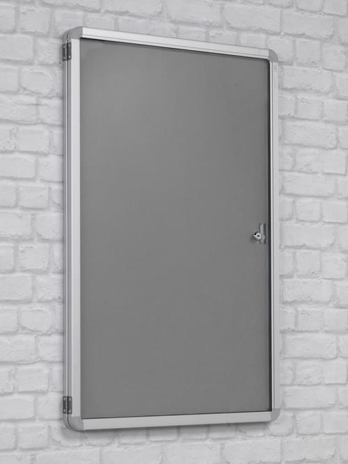 Spaceright FlameShield Tamperproof Noticeboard 1800 x 1200mm - GREY