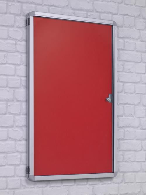 Spaceright FlameShield Tamperproof Noticeboard 1800 x 1200mm - RED