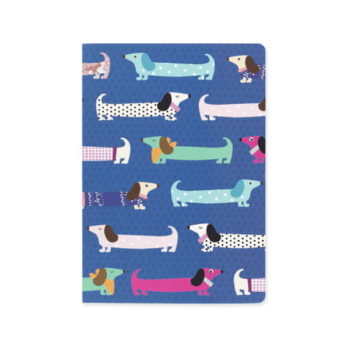 Sausage Dog A5 Deluxe Notebook - Blue