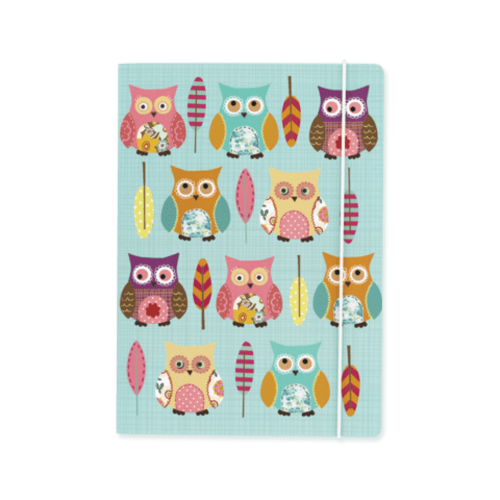 Owl Covered A5 Deluxe Notebook