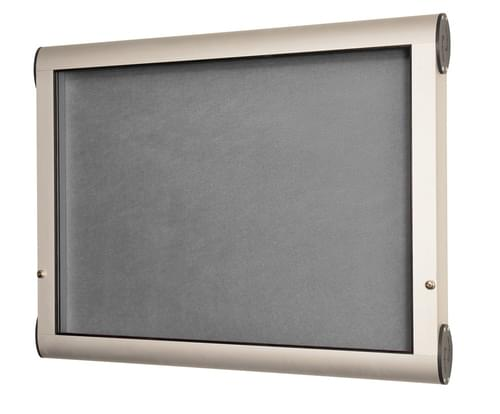 Spaceright Weather Shield Internal Showcase Notice Board (1400mm x 1000mm) - Aluminium/Grey