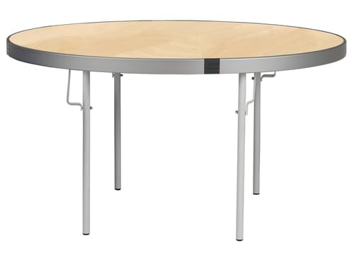 Spaceright Fast Fold Round Table - 635mm High - Beech