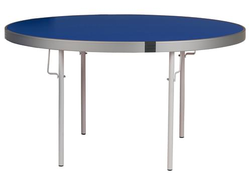 Spaceright Fast Fold Round Table - 710mm High - Blue