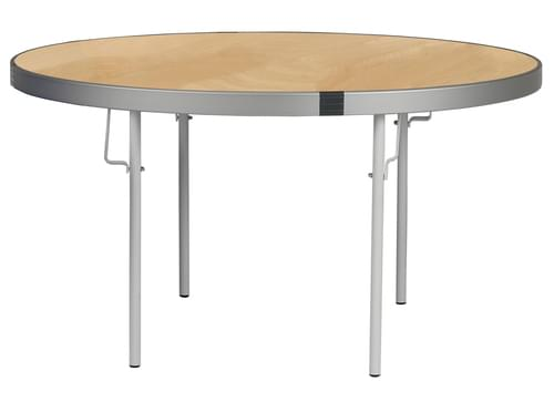 Spaceright Fast Fold Round Table - 710mm High - Oak