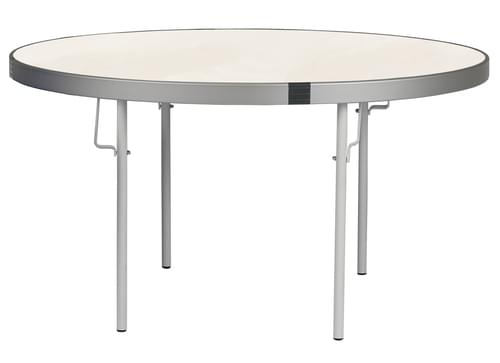 Spaceright Fast Fold Round Table - 710mm High - White