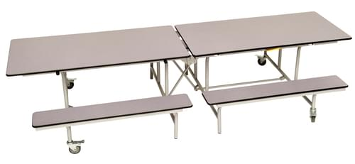 Spaceright Rectangular Mobile Folding Primary School Bench Unit - Grey Fleck