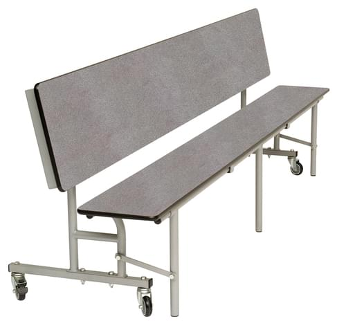 Spaceright Mobile Convertible Primary School Folding Bench Unit - Blue/Grey