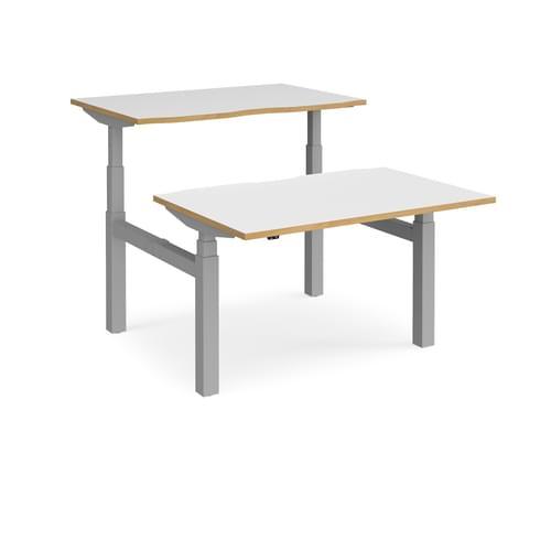 Elev8 Touch Height Adjustable 2 Seater Back-to-Back Desks