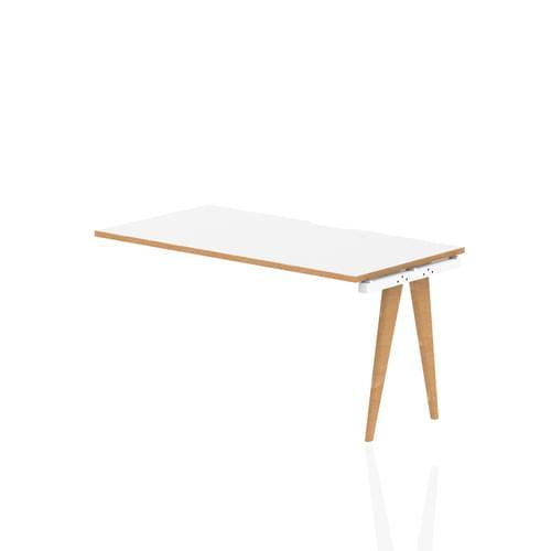 Oslo Single Row Bench Desk Extension Kit White