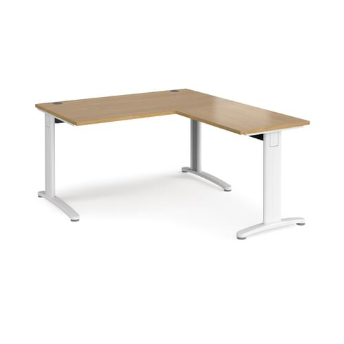 TR10 Single Cable Managed Office Desk With Return