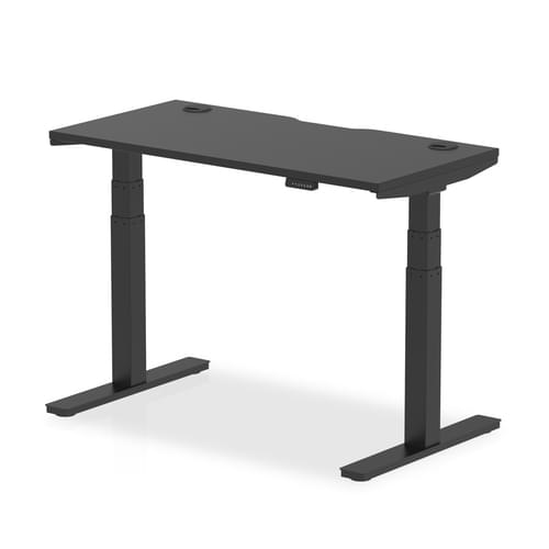 Air Black Series Height Adjustable Desk Black Top with Cable Ports