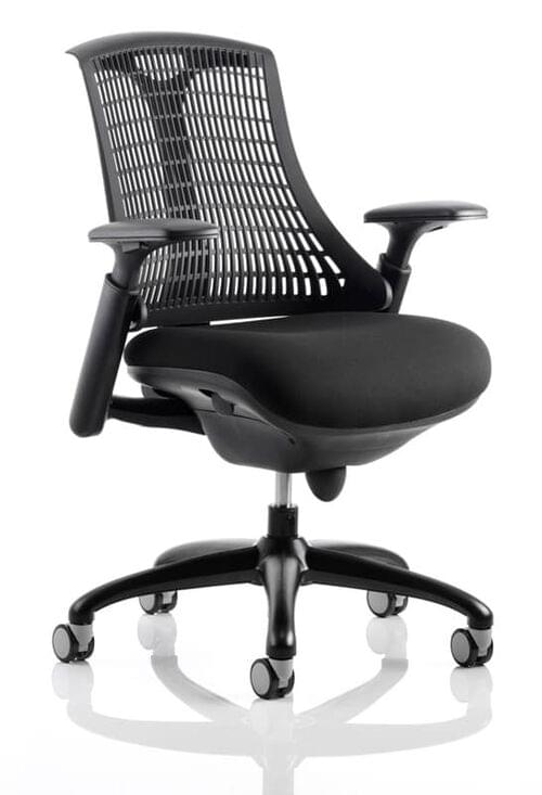 Flex Task Operator Chair with Black Fabric Seat and Arms