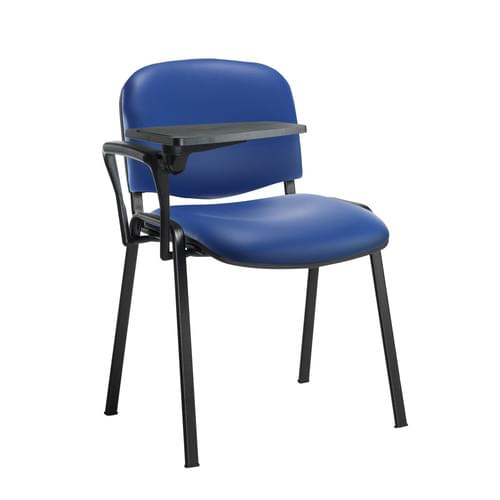 Taurus Meeting Room Chair With Black Frame With Writing Table