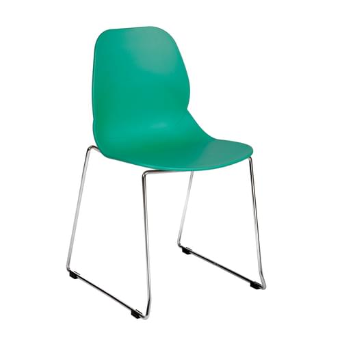 Strut Multi-Purpose Chair With Chrome Sled Frame