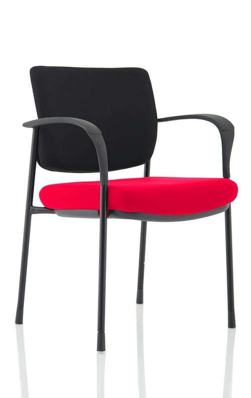 Brunswick Bespoke Visitor Chair Black Fabric Back