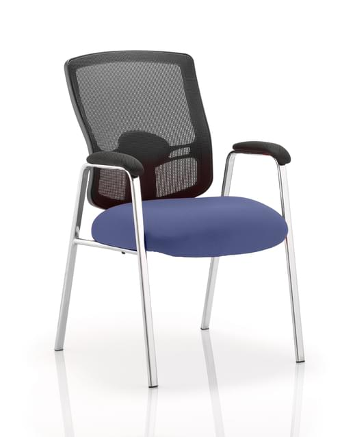 Portland Mesh Visitor Chair Bespoke Colour Seat