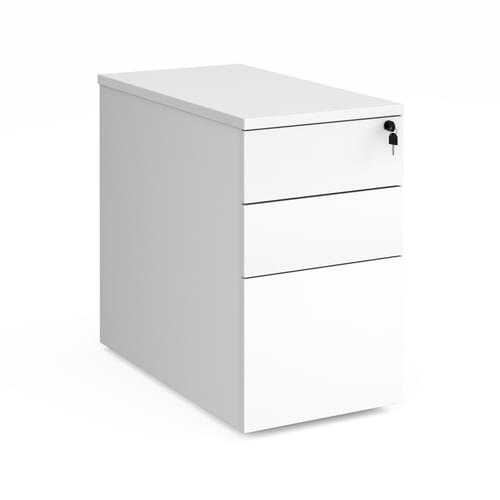 Duo Deluxe Desk-High Pedestal White Sides