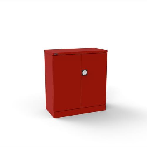Silverline Kontrax 2 Door Cupboard with 1 Shelf - Flat Pack - Red