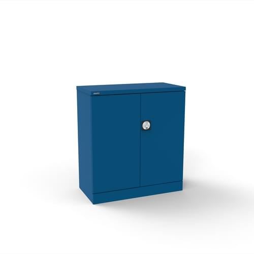 Silverline Kontrax 2 Door Cupboard with 1 Shelf - Flat Pack - Blue