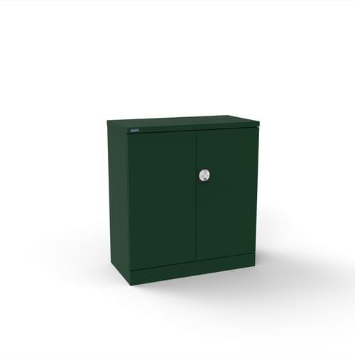 Silverline Kontrax 2 Door Cupboard with 1 Shelf - Pre-Assembled - British Racing Green