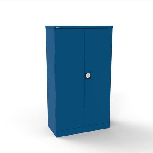 Silverline Kontrax 2 Door Cupboard with 2 Shelves - Pre-Assembled - Blue