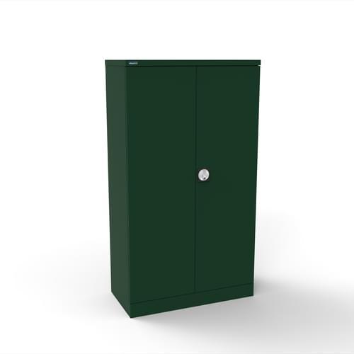 Silverline Kontrax 2 Door Cupboard with 2 Shelves - Pre-Assembled - British Racing Green