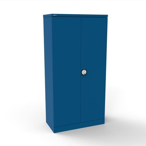 Silverline Kontrax 2 Door Cupboard with 3 Shelves - Pre-Assembled - Blue