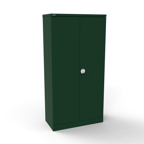 Silverline Kontrax 2 Door Cupboard with 3 Shelves - Flat Pack - British Racing Green