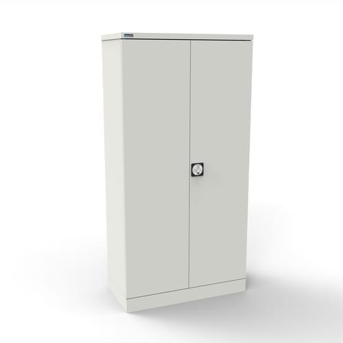 Silverline Kontrax 2 Door Cupboard with 3 Shelves - Flat Pack - White