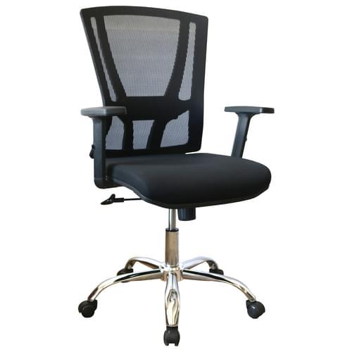Holmfirth High Back Mesh Operator Chair With Height Adjustable Arms – Sliding Lumbar and Tilt Lock- Chrome
