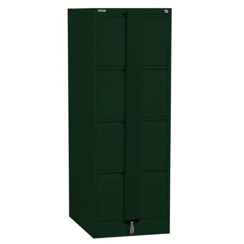 Silverline Executive 4 Drawer Foolscap Filing Cabinet with Security Bar - British Racing Green