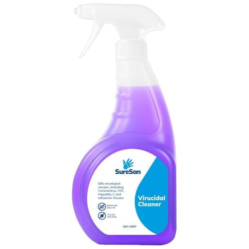 Suresan Viricidal Anti-Bacterial Cleaner Spray [Case of 6 750ml Spray Bottles]
