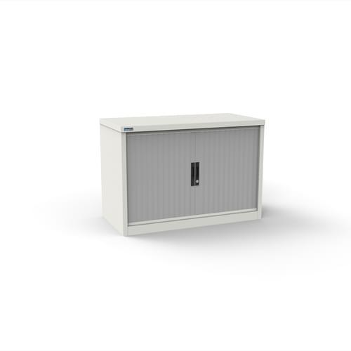 Silverline Kontrax 800 Wide Side Tambour Cupboard - 690mm x 803mm x 507mm - White