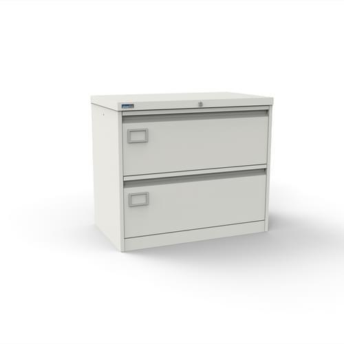 Silverline Kontrax 2 Drawer Foolscap Side Filing Cabinet - White
