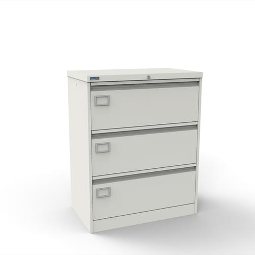 Silverline Kontrax 3 Drawer Foolscap Side Filing Cabinet - White