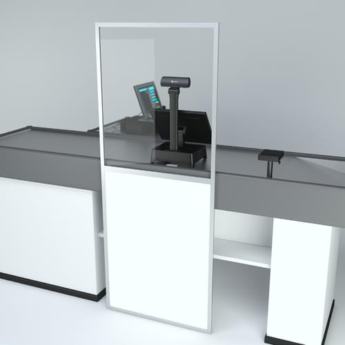 Free-standing PPE Hygiene Divider Screen for Till Retail Use 800 x 2000mm