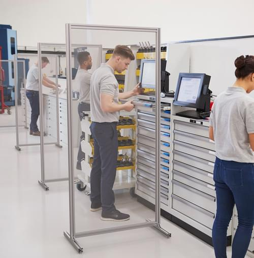 Free-standing PPE Hygiene Divider Screen for Universal Shop Floor Use 800 x 2000mm