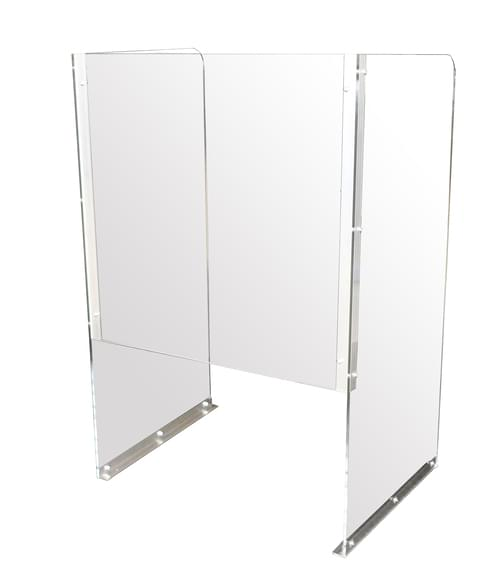 Point of Sale PPE Fixed Hygiene Screen with Enclosed Protection - 800 x 600 x 1000mm