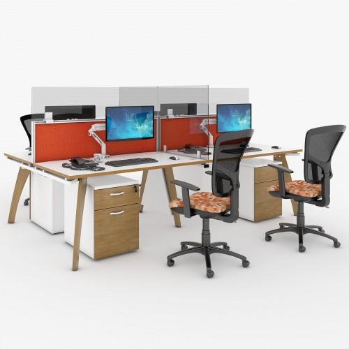 Desktop acrylic screen topper 1200mm
