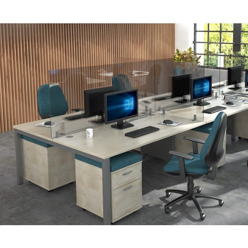 Acrylic Desk Mounted High Screen 1600mm Wide