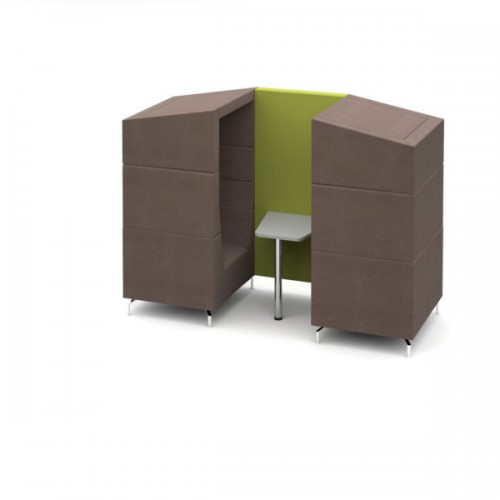 Alban Pod 2 person medium sized meeting booth with canopy - made to order