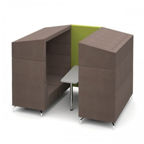Alban Pod 4 person medium sized meeting booth with canopy - made to order